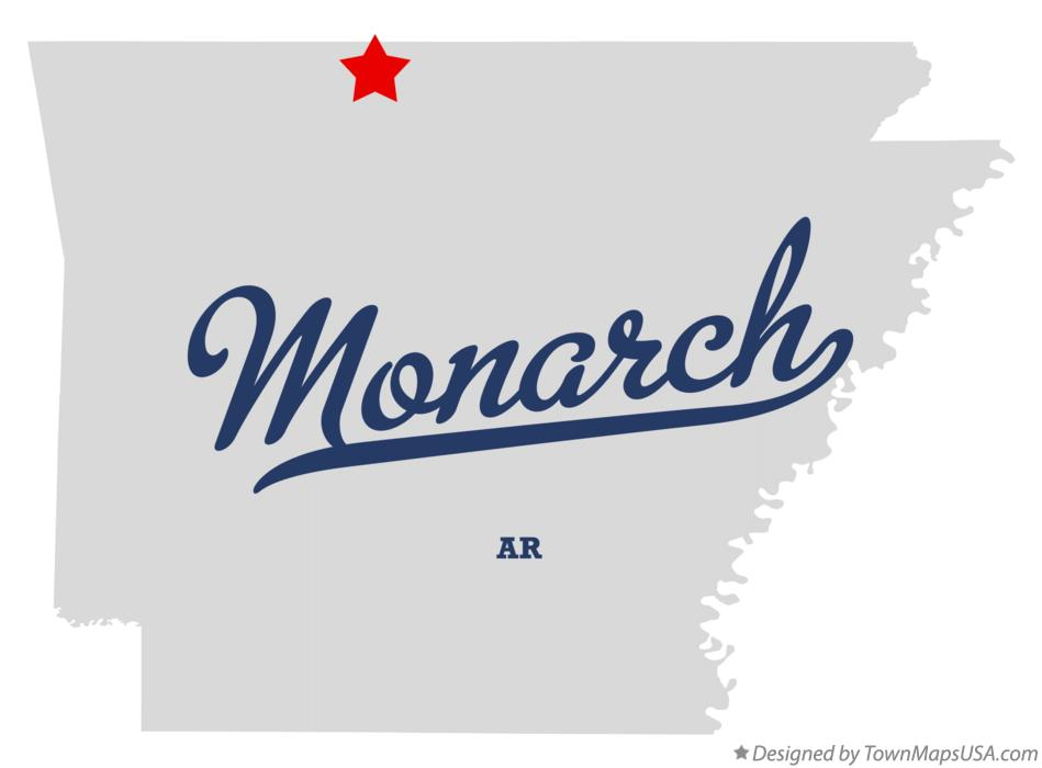 Map of Monarch Arkansas AR