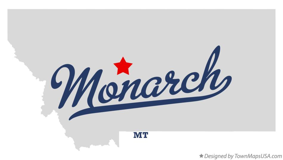 Map of Monarch Montana MT