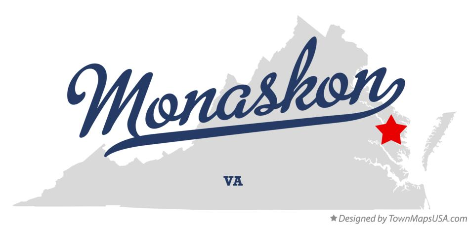 Map of Monaskon Virginia VA