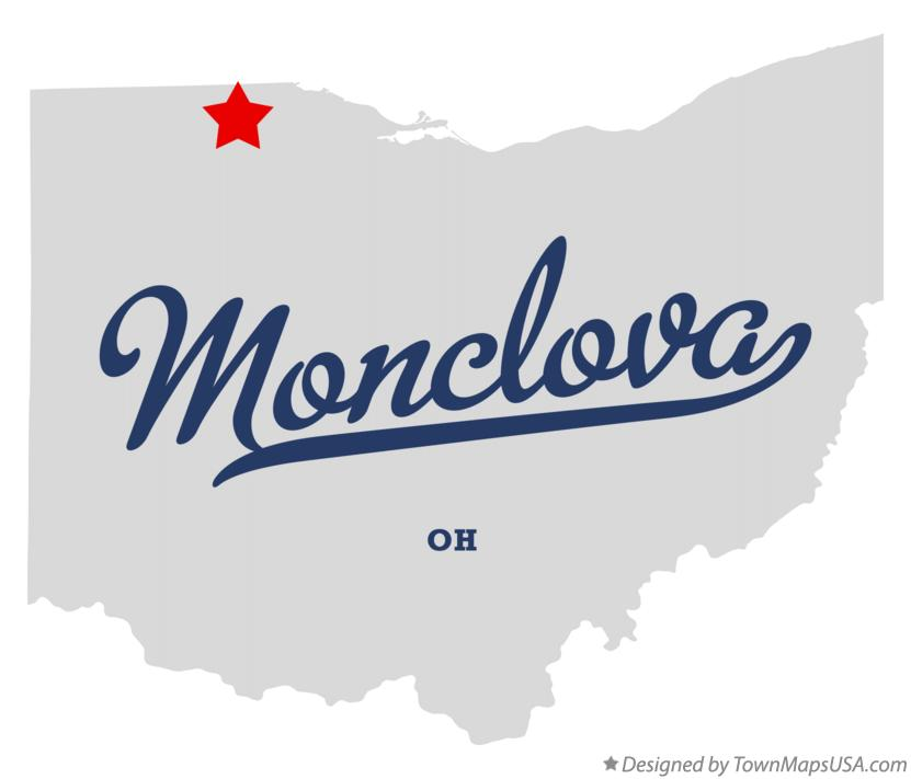 Map of Monclova Ohio OH