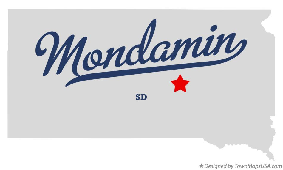 Map of Mondamin South Dakota SD