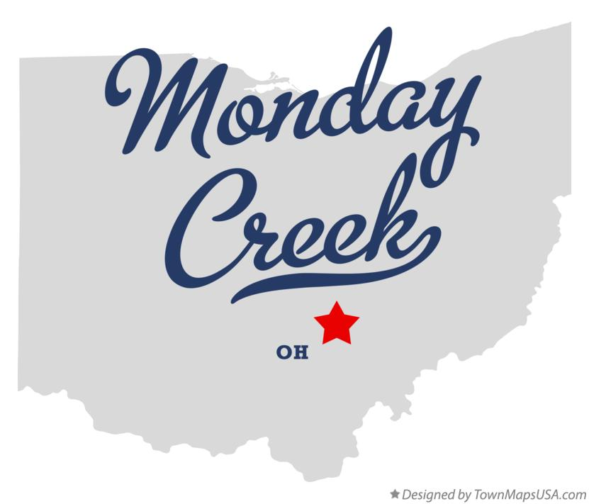 Map of Monday Creek Ohio OH