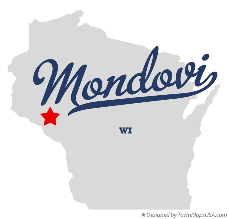 Map of Mondovi, WI, Wisconsin