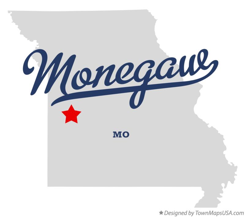 Map of Monegaw Missouri MO