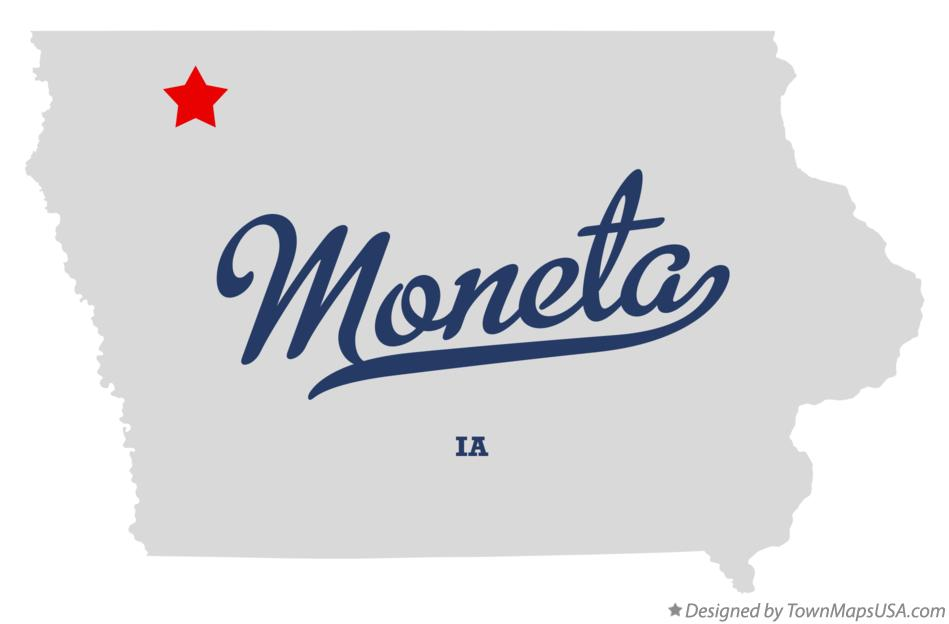 Map of Moneta Iowa IA