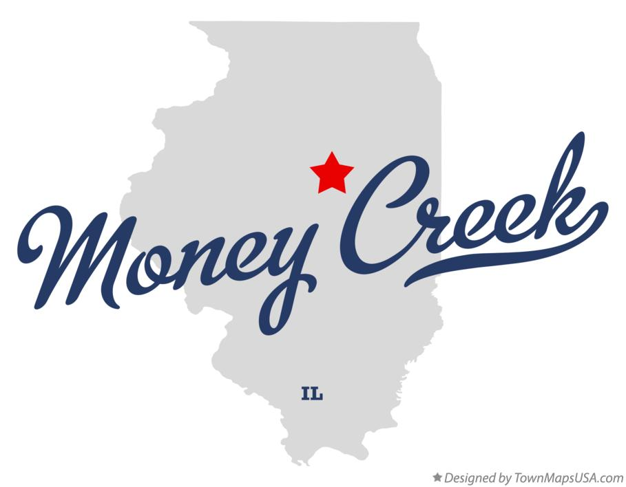 Map of Money Creek Illinois IL