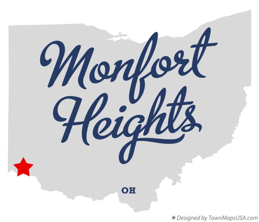 Map of Monfort Heights Ohio OH