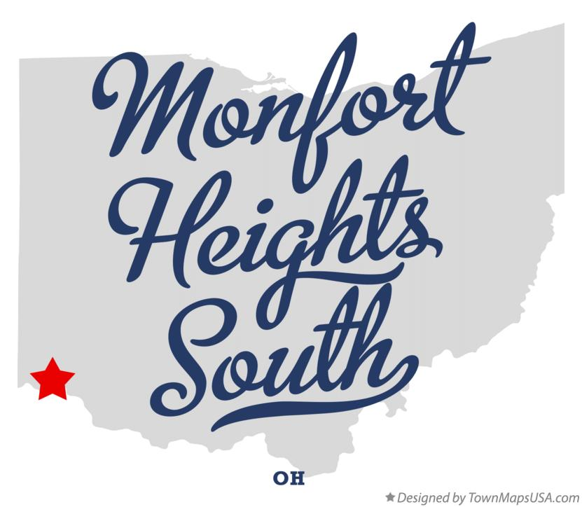 Map of Monfort Heights South Ohio OH