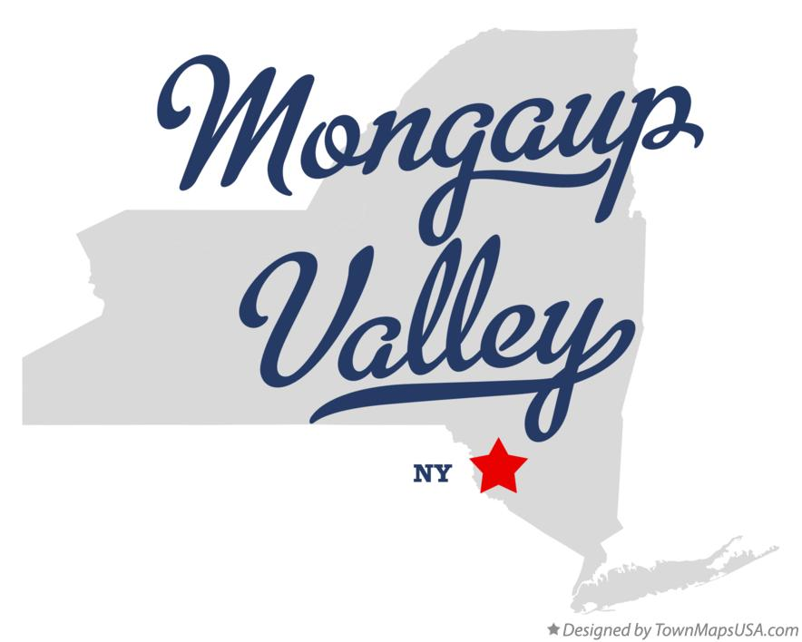 Map of Mongaup Valley New York NY