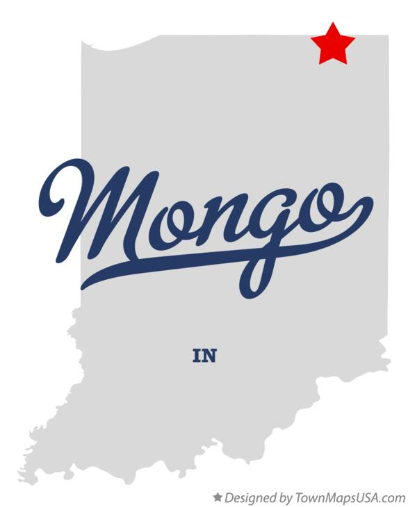 Map of Mongo Indiana IN