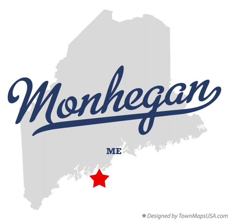 Map of Monhegan Maine ME