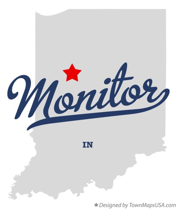 Map of Monitor Indiana IN