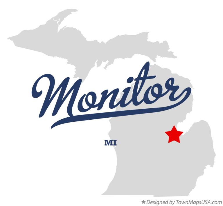 Map of Monitor Michigan MI