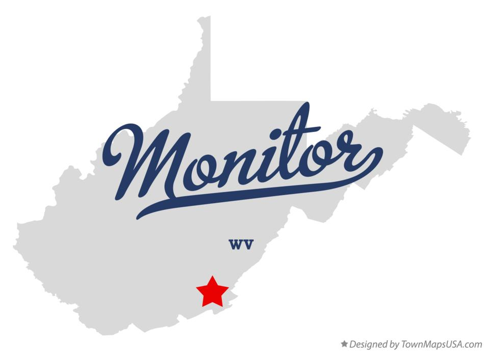Map of Monitor West Virginia WV