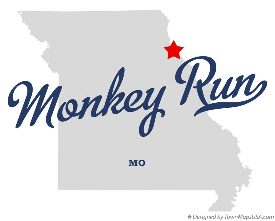 Map of Monkey Run Missouri MO