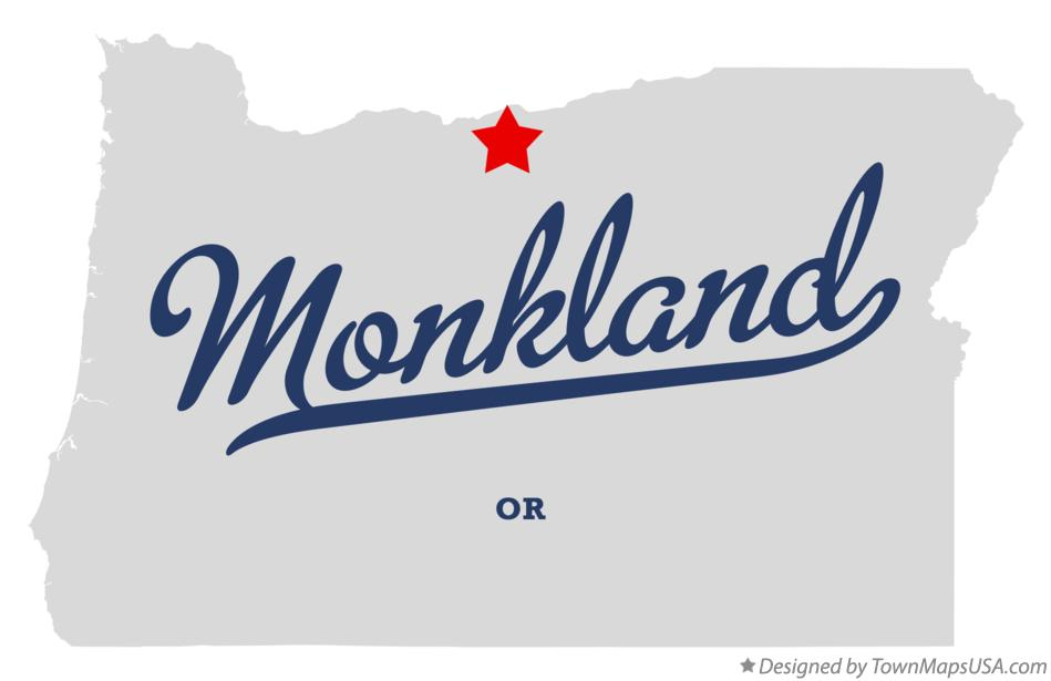 Map of Monkland Oregon OR