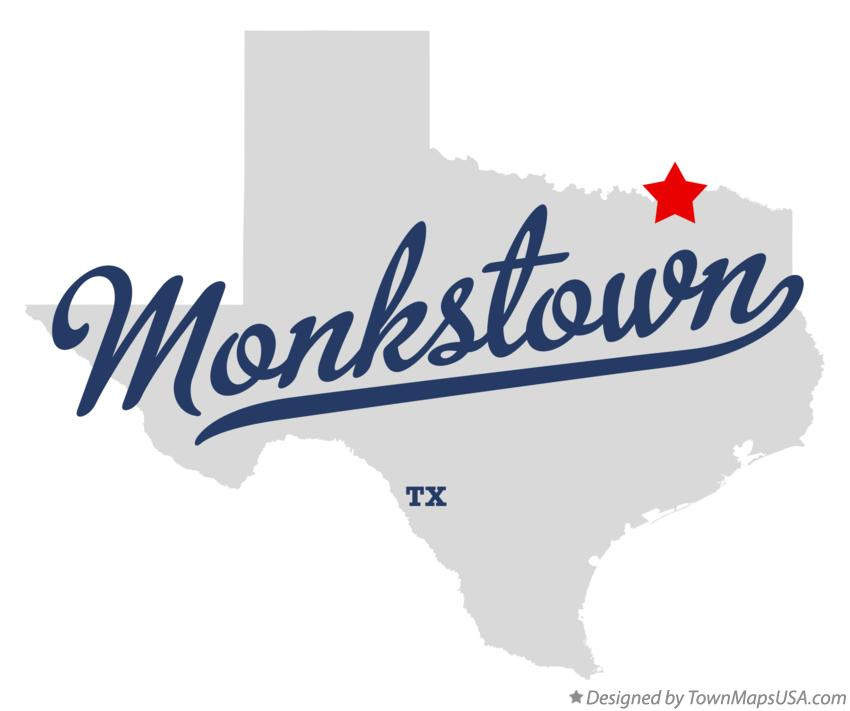 Map of Monkstown Texas TX