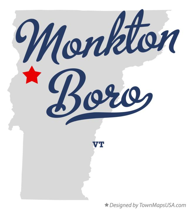 Map of Monkton Boro Vermont VT