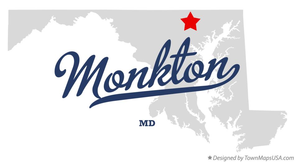 Map of Monkton Maryland MD
