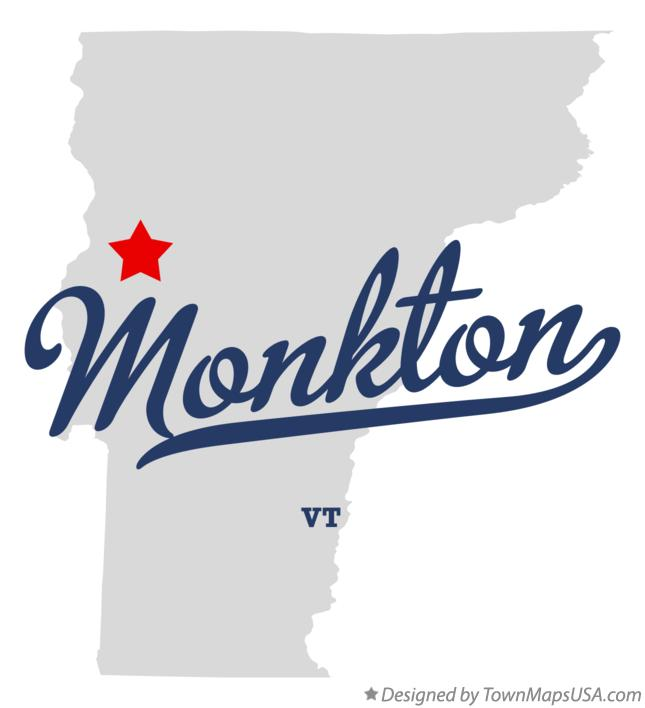 Map of Monkton Vermont VT