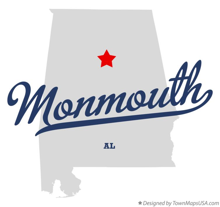 Map of Monmouth Alabama AL