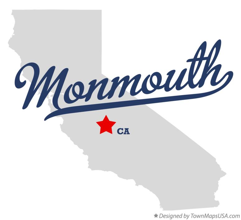 Map of Monmouth California CA