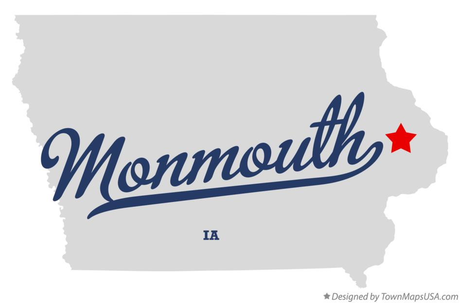 Map of Monmouth Iowa IA
