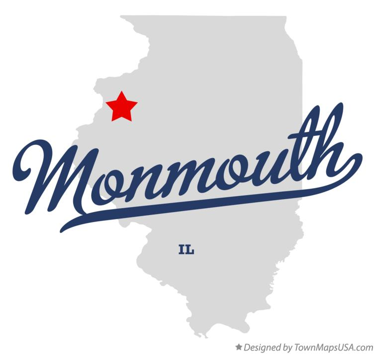 Map of Monmouth Illinois IL