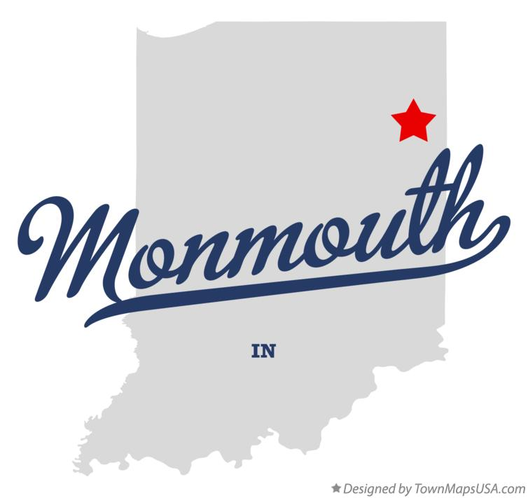 Map of Monmouth Indiana IN