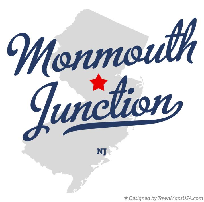 Map of Monmouth Junction New Jersey NJ