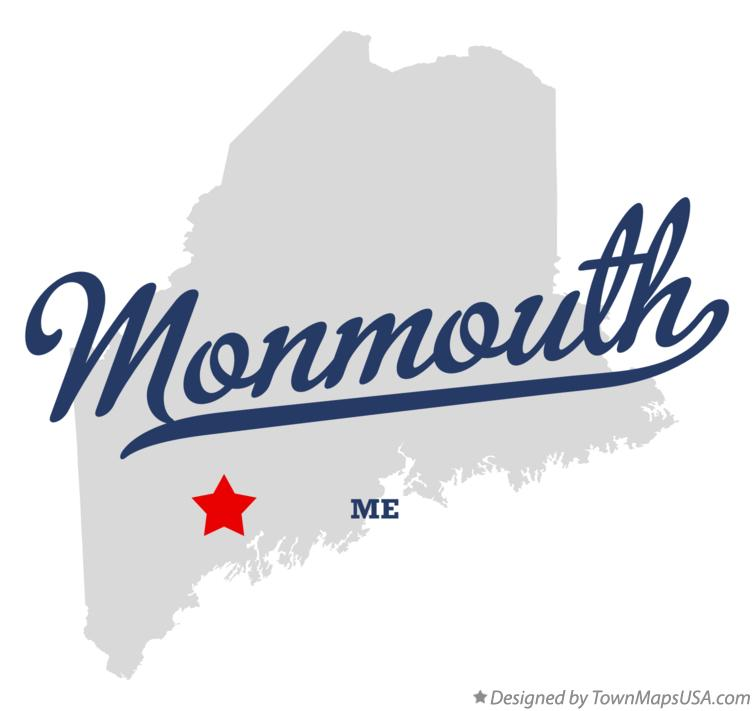Map of Monmouth Maine ME