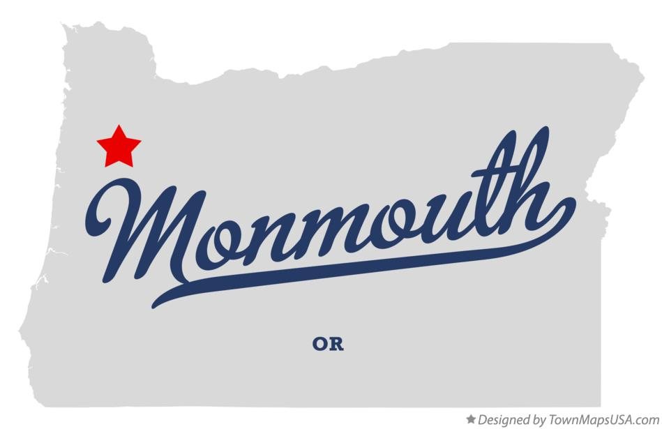Map of Monmouth Oregon OR