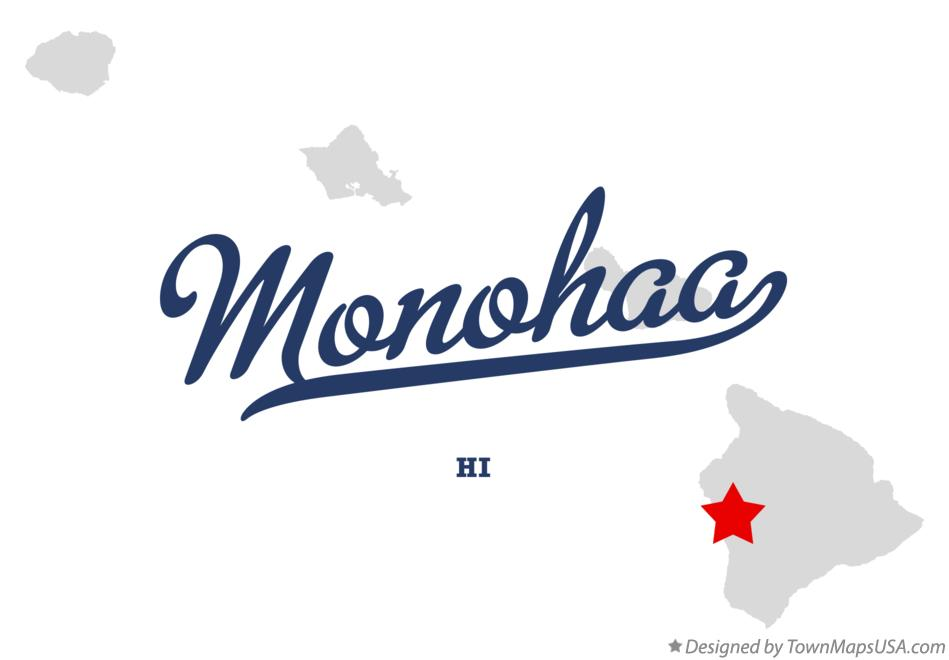 Map of Monohaa Hawaii HI