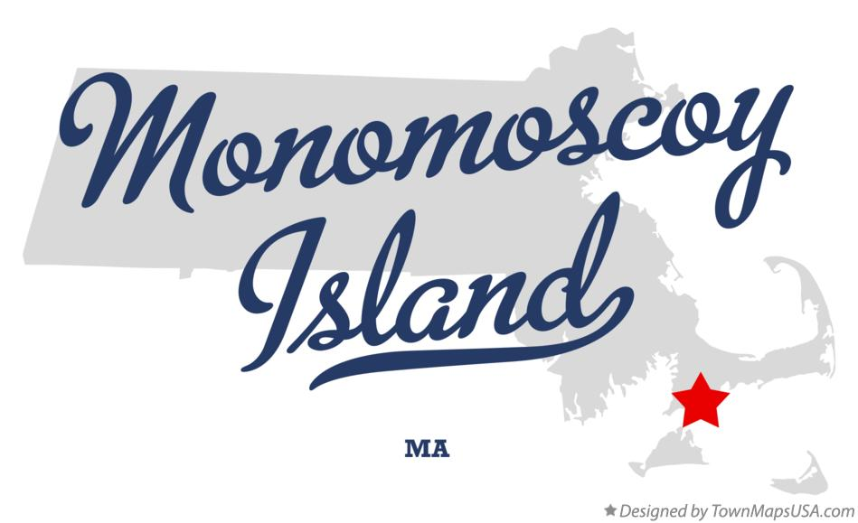 Map of Monomoscoy Island Massachusetts MA