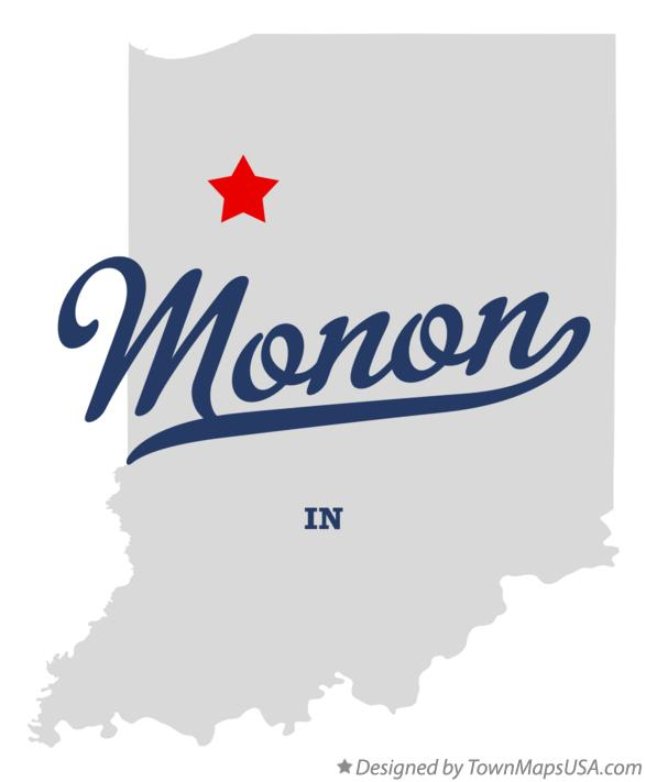 Map of Monon Indiana IN