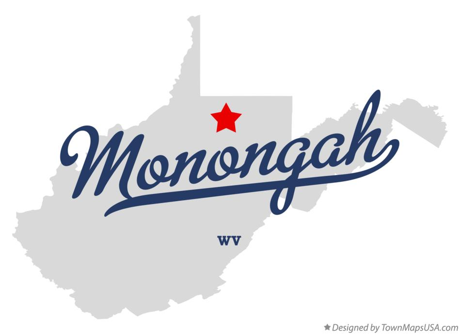 Map of Monongah West Virginia WV