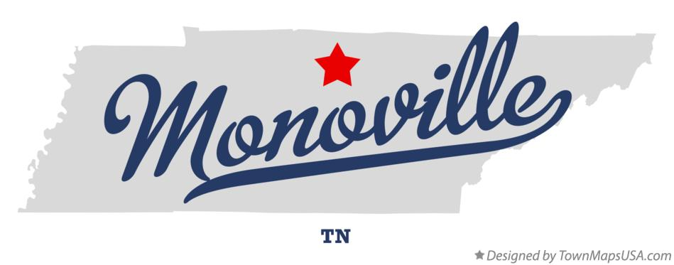 Map of Monoville Tennessee TN