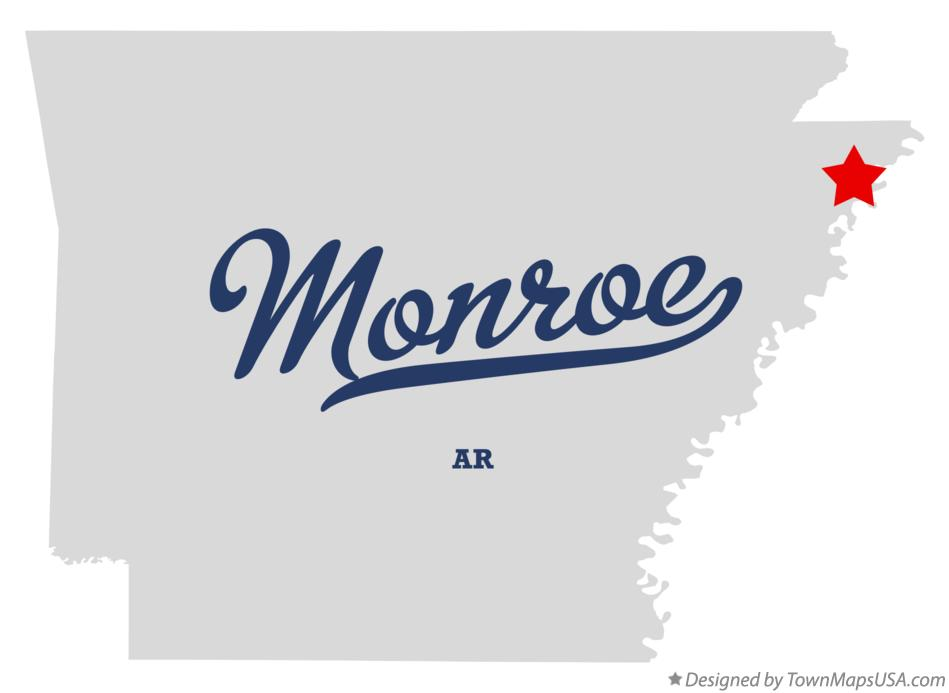 Map of Monroe Arkansas AR