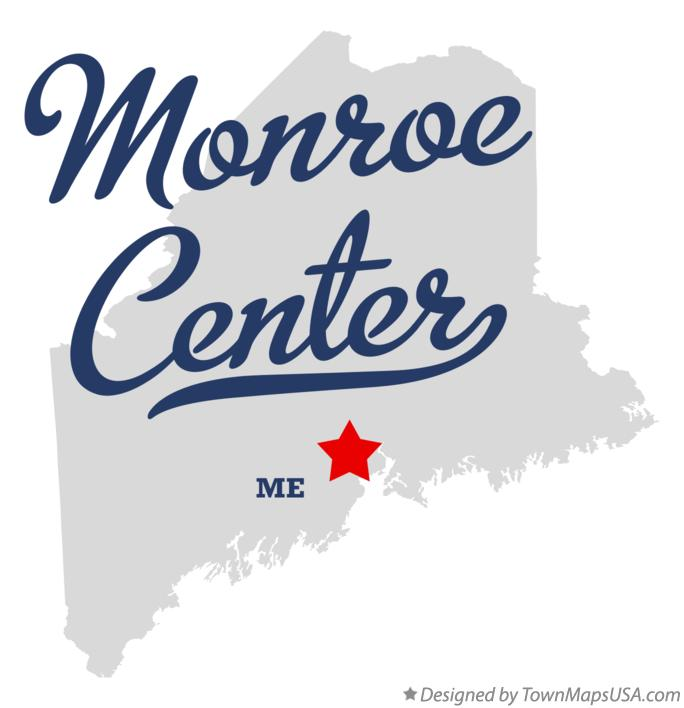 Map of Monroe Center Maine ME