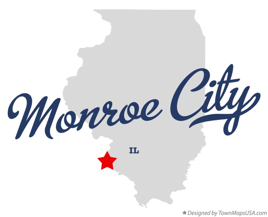 Map of Monroe City Illinois IL