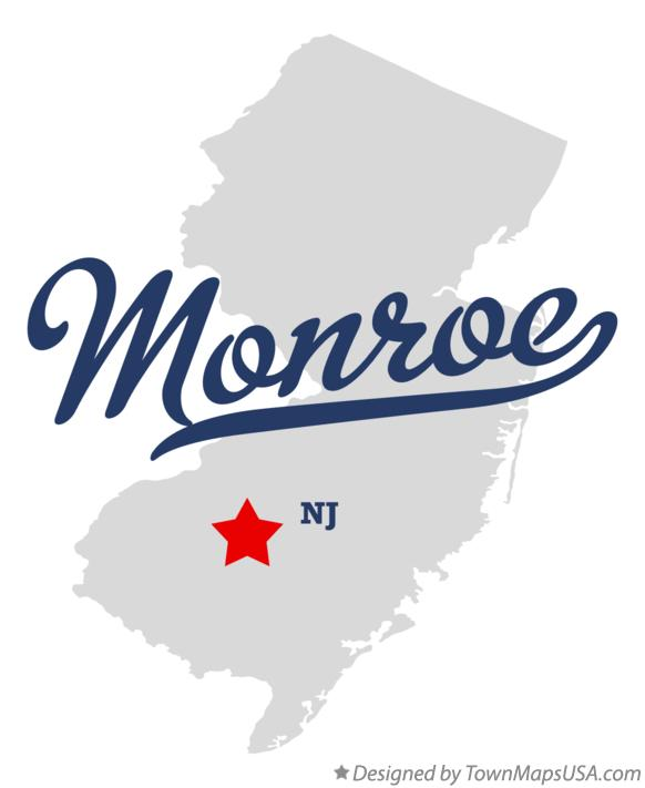 Map of Monroe New Jersey NJ