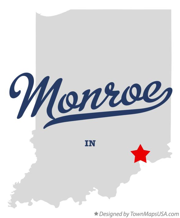 Map of Monroe Indiana IN