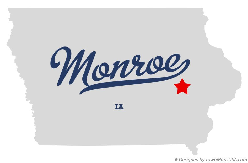 Map of Monroe Iowa IA