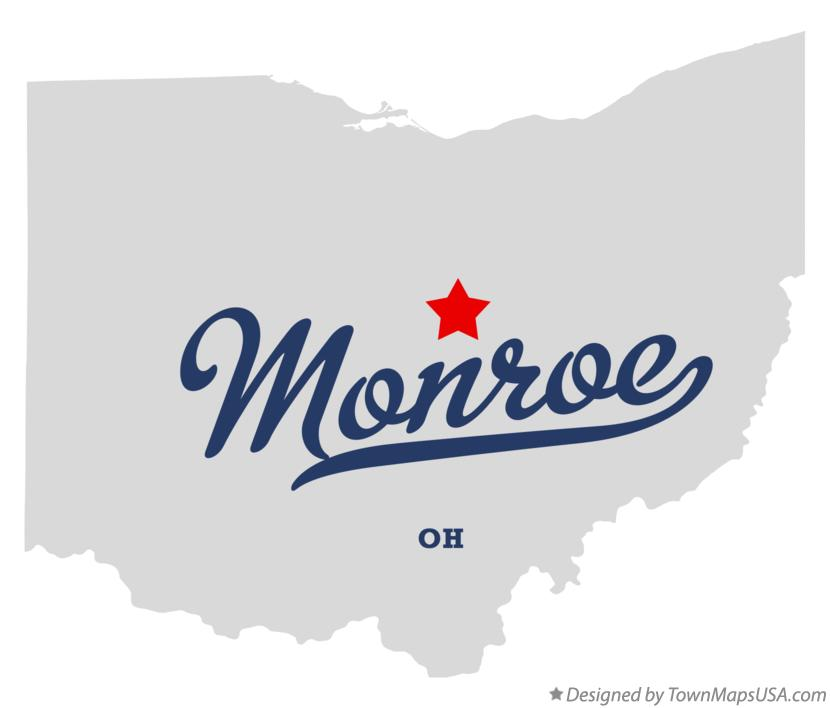 Map of Monroe Ohio OH