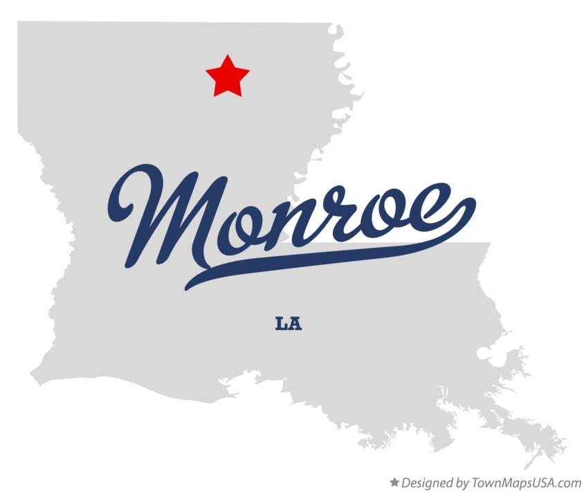 Map of Monroe LA Louisiana