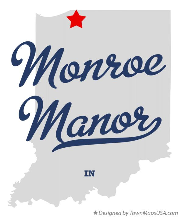 Map of Monroe Manor Indiana IN