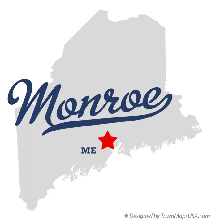 Map of Monroe Maine ME