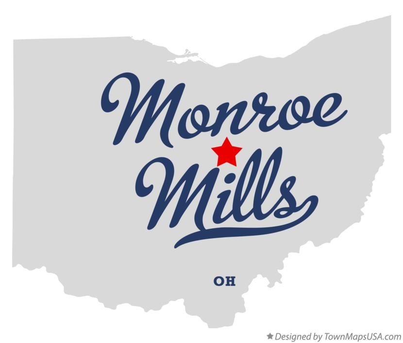 Map of Monroe Mills Ohio OH