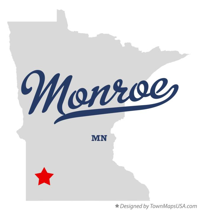 Map of Monroe Minnesota MN