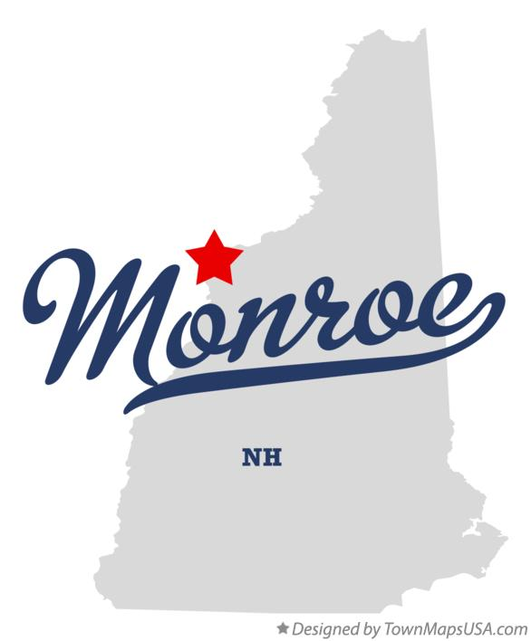 Map of Monroe New Hampshire NH